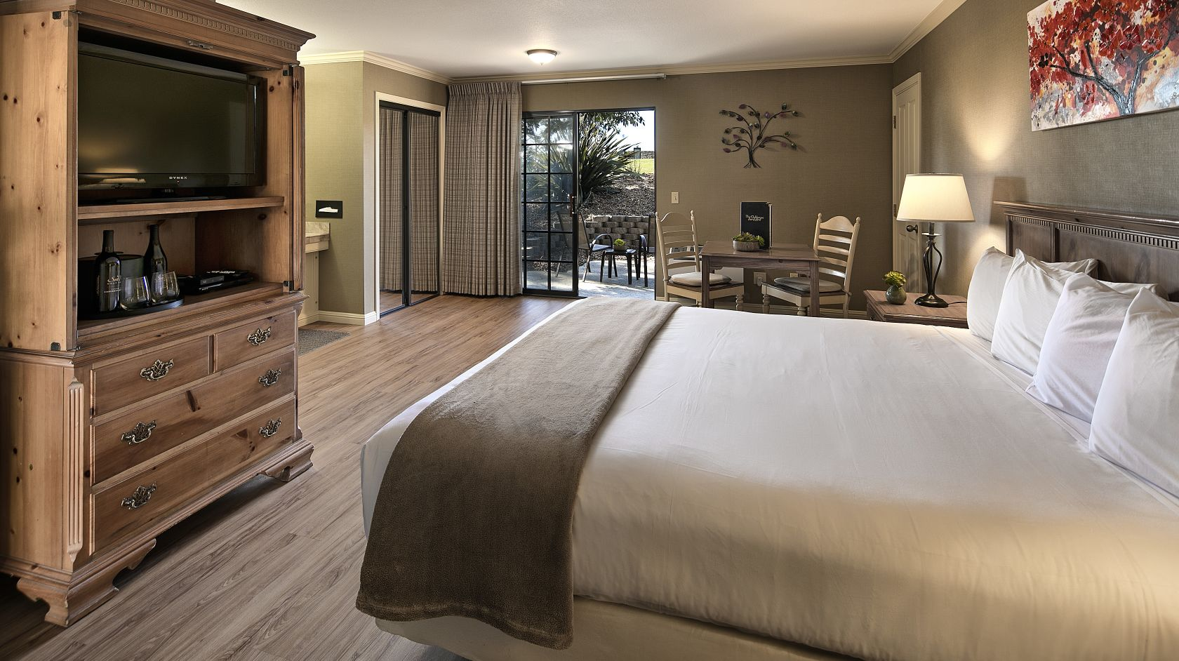 spacious, clean King room at Sea Pines Resort in Los Osos, California